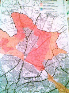 This is an official map of agricultural land qualities in Sefton's East Parishes. It shows that virtually all the land that is presently undeveloped is the best and most versatile agricultural land.