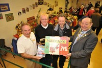 This is me donating my old maccano set to the Trust. I am pictured with Trust Chairman Les French, former Trustee John Keogh and Cllr. Geoff Howe - then Mayor of Maghull