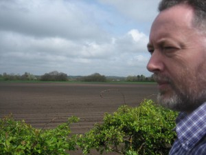 Here I am at Lambshear Lane Lydiate checking out farm land that is coming under threat from house building.
