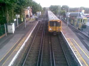 A Merseyrail electric unit at Maghull Station