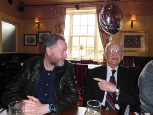 Charles and I at his 91st Birthday Party in the Punch Bowl Pub, Sefton Village