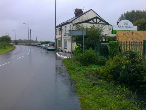 Affected cottages in Sefton Lane (September 2012) - Sadly flooding here has a long history; I recall it happening in the early 1970's