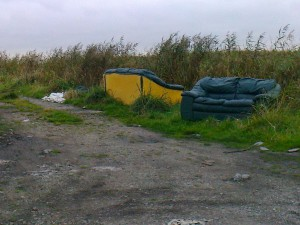 Dumping in the lanes between Lunt and Thornton