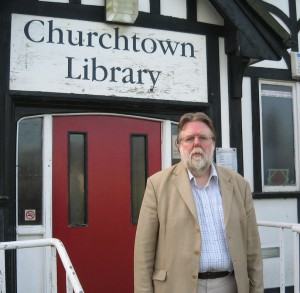 Cllr. Nigel Ashton - This photo was taken during the campaign to try to save the Library from closure.