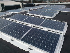 These are the solar panels on Maghull Town Hall roof.