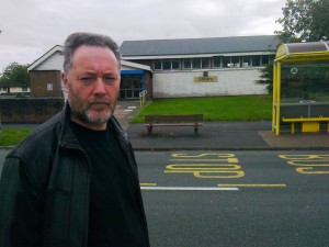 Me outside the Aintree Library before Labour swung the axe to close it and then block volunteer efforts to reopen it.