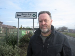 The posts and sign behind me are, I am told, where Maghull's boundary sign is to be relocated to.