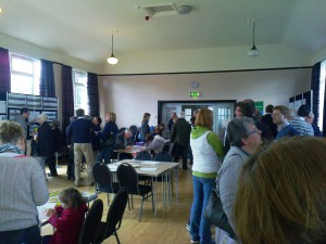 This photo is from a consultation event in Lydiate before the planning application was submitted.