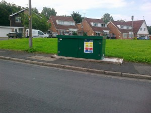 The latest UU green box, quite an improvement on the monster sized one they put in earlier this year