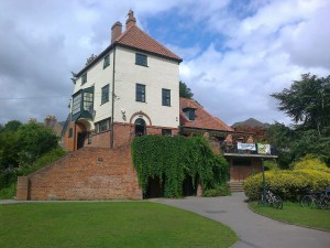 The unique café/library in York's Rowntree Park