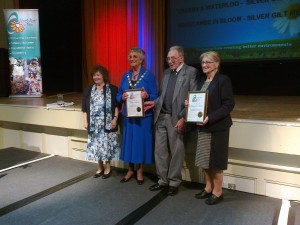 The Crosby winners with Sefton Mayor Maureen Fearn