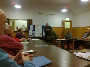 Cllr. John Fillis speaking to the OPSTA meeting last night.
