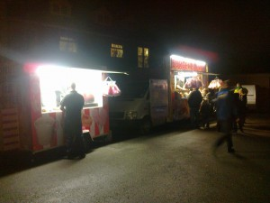Burger and chip stalls; not quite part of your 5 a day!