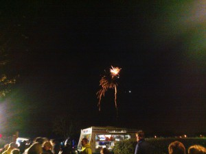 Not the best firework photo but I was in a rush to leave. But what a cold night to sell ice creams - yes that is an ice cream van.