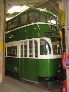 Liverpool Tram 869 (Not the last tram) in Crich tramway Village, Derbyshire. Photo from 2008