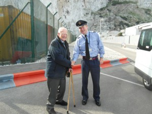 Charles Shaking hands with Wing Commander Greg Smith at RAF Gibraltar in 2013