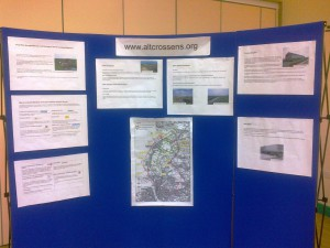 Displayed information at Lydiate Village Centre event on 31st January
