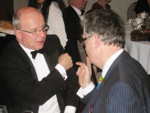Former BBC and Liverpool Post reporter Nick Hancock debating with Sefton's Lib Dem Leader Iain Brodie-Browne.