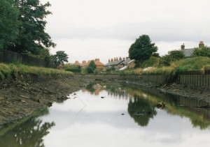 This is looking northwards towards the Bells Lane swing bridge which is out of sight around a bend in the canal. Most of the water had run out of the canal by the time this shot was taken.