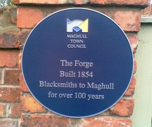 This is the missing Maghull Town Council plaque as it once was before it was mysteriously removed.