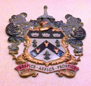 Bootle Crest. This version is fixed to the wall of the Council Chamber in Bootle Town Hall.