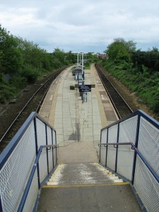 Sadly Meols Cops is not a disabled friendly Station. The steps down to the platform.