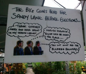 It was obviously a bit for humour aimed at the Euro and local council elections held on 22nd May