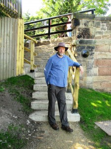 An 'Australian' chap inspects the new steps