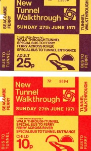 These are the tickets my family were given when we walked through the new (2nd) Tunnel in 1971