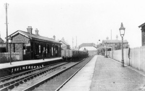 The old Skelmersdale Station - now long gone in the name of 1960's progress!