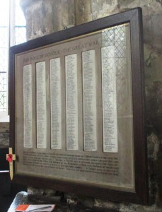 This is from Holy Trinity Church in York and sadly the list is long indeed of the fallen.