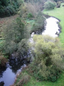 A shot of the River Wye which flows through Monsal Dale taken from the viaduct.