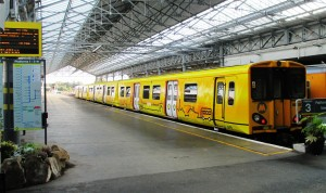 The present Merseyrail rolling stock Class 507/8 EMU's) at Southport Station.