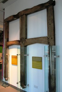 Timbers from Lydiate Hall on display at the Museum of Liverpool