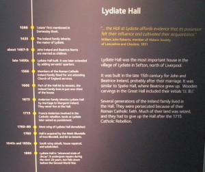 History of Lydiate Hall.