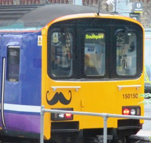 Northern Rail the present operator of the Northern rail franchise has lost the contract to operate it to Arriva Trains. This is a Northern Rail train standing in Southport Station.