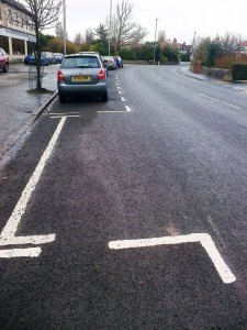 White lines at last!