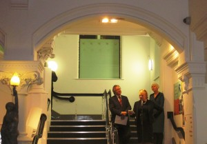 Cllr. Peter Dowd, Emma Anderson (Atkinson Director) & Virginia Tandy OBE a Trustee of the Heritage Lottery Fund