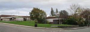 The former Stafford Moreton Youth Centre and old Maghull Library in the heart of Maghull's shopping area.