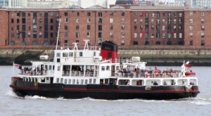 My photo of Mersey Ferry Royal Iris in the usual paint scheme.