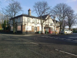 The Priory Pub prior to demolition