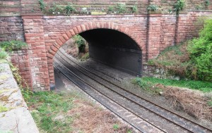 The site of the former Station as it looks today. You can just about see where the platforms were under Millers Bridge