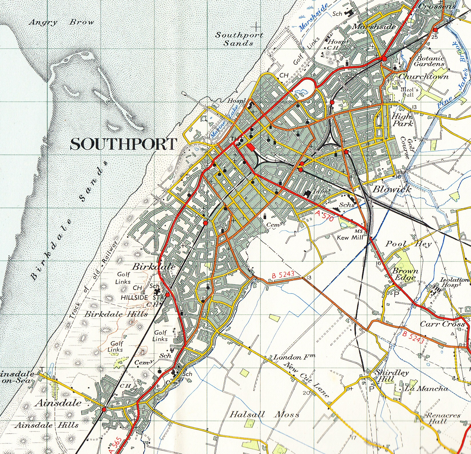 Southport England Map
