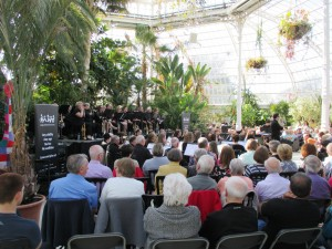 Maghull Wind Orchestra in the wonderful setting of Sefton Park Palm House