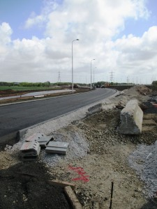 This is the Switch Island end of the yet to be completed road
