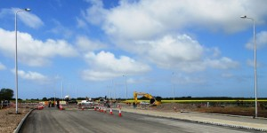 This is the presently being constructed junction with Brickwall Lane just to the west of Sefton Village.
