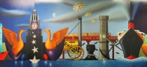 Iconic scenes of Liverpool spotted on a wall mural in Moorfields Station