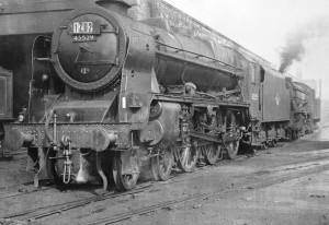 Loco 45529 Stephenson at Aintree Shed