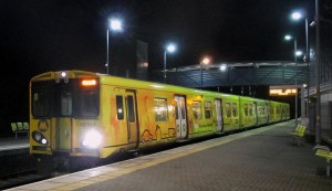 A Merseyrail train at Bootle Oriel Road Station