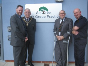 Me, Terry Baldwin, Jack Colbert and Peter Gill - July 2012 at the formal opening of the new GP Surgery